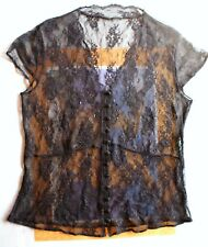 New look Black lace top--size s--see measurements.