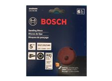 Bosch SR5R000 6-Piece Assortment 5 In. 8 Hole Hook-And-Loop Sanding Discs