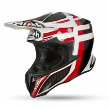 Motorcycle Helmet Cross Airoh Twist Shading Red Enduro Off Road Motard Helmet