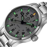 Luxury Mens H3 Green Tritium Watch 200M Waterproof Light Military Quartz Watches