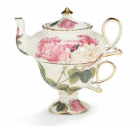 Victorian Roses Porcelain Teapot
