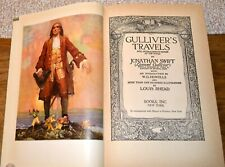 GULLIVER'S TRAVELS by Jonathan Swift, Illustrated by Louis Rhead 1941 print
