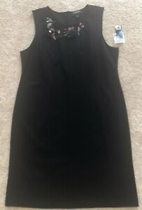 Liz Claiborne Career Women's Black Sleeveless Sheath Dress - Size XL - NWT