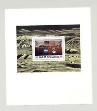 Ajman Mi #Bl272 Apollo 11, Space 1v S/S Deluxe Proof