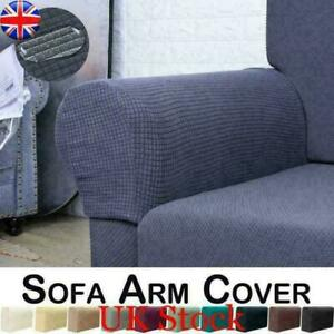 UK Stretch Armchair Covers Chair Arm Protector Cover Sofa Couch Recliner Armrest