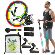 11pc Jungle Jim Resistance Bands for Women or Men Leg and Butt Exercise Band Set