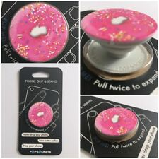 PopSockets Single Phone Grip PopSocket Universal Phone Holder 101257 PINK DONUT