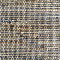 Wallpaper Grasscloth Blue Beige Natural Textured 2661-13 D/Rs FREE Ship