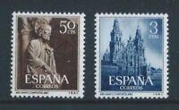 ESPAÑA 1954 AÑO SANTO COMPOSTELANO EDIFIL 1130-1131 **