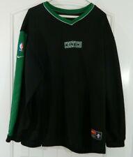 Nike Team Boston Celtics NBA Black & Green Sweatshirt Authentics Basketball EUC
