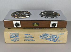VTG Capitol Electrical Cooking Table Range Double Burner Hot Plate Model UL365N