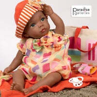 Paradise Galleries African American Black Reborn Baby Boy Doll, Creamsicle cutie