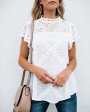 Fashion Women's Ladies Summer Short Sleeve Shirt Loose Casual Blouse Top T-Shirt