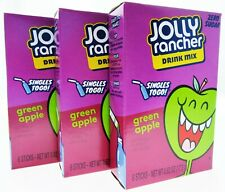 Jolly Rancher Singles Water Drink Mix ~ Sugar Free ~ 3 Boxes Green Apple