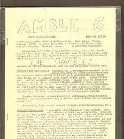 VINTAGE SCIENCE FICTION FANZINE #322 - AMBLE #6 (1960s)