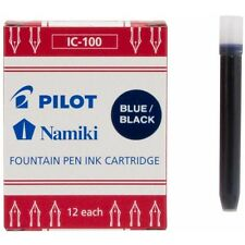 Namiki (69102) Fountain Ink Cartridge, Blue/Black 12pk
