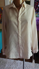 Johnny Was size M up to L  silk button down lined NWT 4 Love and Liberty cream