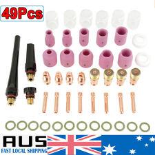 49Pcs TIG Welding Torch Gas Lens Parts Nozzle Cups Collets Kit For WP-17/18/26
