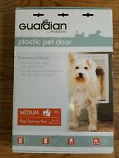 Guardian By Petsafe Plastic Pet Door For Dogs Or Cats Medium Up To 40 Lbs White