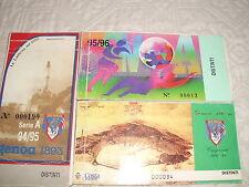 3 ABBONAMENTI CALCIO GENOA 1893 STAGIONI 1992/93 1995/96 E 1994/95