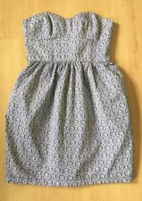 Jack Wills Ladies Dress 10 Summer Strapless Holiday Day Casual Ditsy Floral