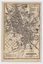 1904 ANTIQUE ORIGINAL CITY MAP OF OSNABRUCK / LOWER SAXONY / GERMANY