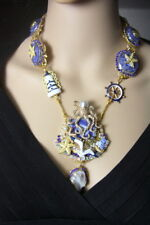 Zibellini  Genuine Solar /quartz Octopus Nautical Marine Necklace+ Earrings