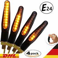 4x LED Motorrad Mini LED Blinker 12V Sequentiell Lauflicht E Prüfzeichen ATV DHL
