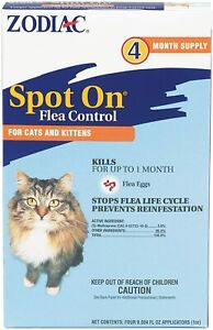 Zodiac Flea eggs Tick Spot On for Cats & Kittens 4 Month 2.5 lbs - 12+ weeks old