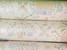 "3X Rolls Whimsical Walpaper (99' X 20.5"" Total) Sealed Viny * Ends Damaged*"
