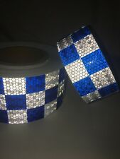 New High Intensity Chequer Chequered Reflective Tape Vinyl roll Self-Adhesive