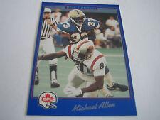 1991 JOGO CFL FOOTBALL MICHAEL ALLEN CARD #149***WINNIPEG BLUE BOMBERS***