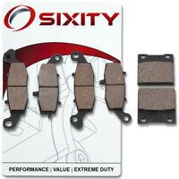 Front + Rear Ceramic Brake Pads 2003-2006 Suzuki GSX750F Katana Set Full Kit mn