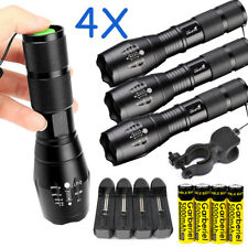 Tactical Polices 80000LM 5Modes T6 LED Zoomable Focus 18650 Flashlight Torch USA