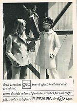 PUBLICITE ADVERTISING  1966   GET  vetements sport chasse & grand air FLESALBA