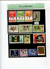 14PCS SPORTS USED STAMPS * WEIGHT LIFTING/FOOTBALL # S391