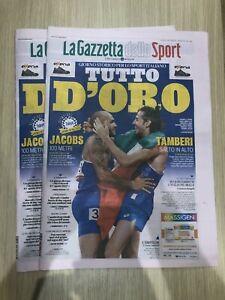 La Gazzetta dello Sport 02/08/21 2 Agosto 2021 Olimpiadi Jacobs Tamberi - NUOVA