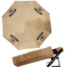 Ombrello Moschino Beige scuro con logo Umbrella 8010