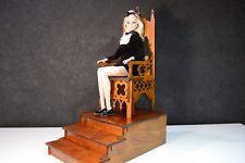 Gothic throne chair 1/6 1:6 scale dollhouse wood furniture for barbie FR kawaii