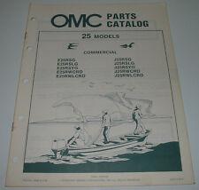 Ersatzteilkatalog Parts Catalog OMC 25 Models Model Boot Engine Bootsmotor 1984!