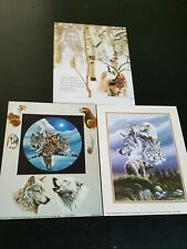 "3- 8"" X 10"" Native American & Animal Collage Picture Prints in Lithograph"