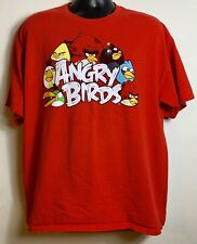 Angry Birds Mens XL T Shirt Red
