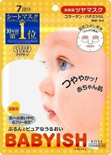 Kose 7pcs Babyish Clear Turn Face Mask Moisture Rich Skincare