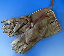 ROYAL AIR FORCE 1941 PATTERN SLANT ZIP FLYING GAUNTLETS SIZE LARGE