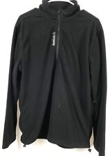 Reebok Men's Quarter Zip Outdoor Fleece Black Jacket SZ M