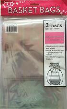 2 LARGE CELLOPHANE BASKET BAGS IDEAL TO MAKE HAMPERS CHRISTMAS 56 x 76 cms