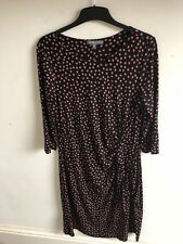 Laura Ashley Ladies pink/black stretchy dress size 14