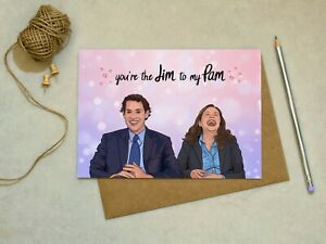The Office - Jim to my Pam - Love, Anniversary, Valentines -  Greetings Card