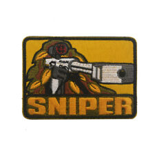 Embroidered SNIPER Military Airsoft Tactical Morale Hook Loop Patch Badge