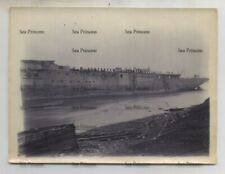 More details for royal navy photo cohen's shipbreaking yard east london composite sloop 1896-7